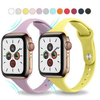 Dây Đồng Hồ Thể Thao Silicon Mềm, Mỏng, Dây Đeo Đồng Hồ Cao Su Cho Apple Watch 6 5 4 3 2 1 38MM 42MM, Series 5 4 40Mm 44Mm thumbnail