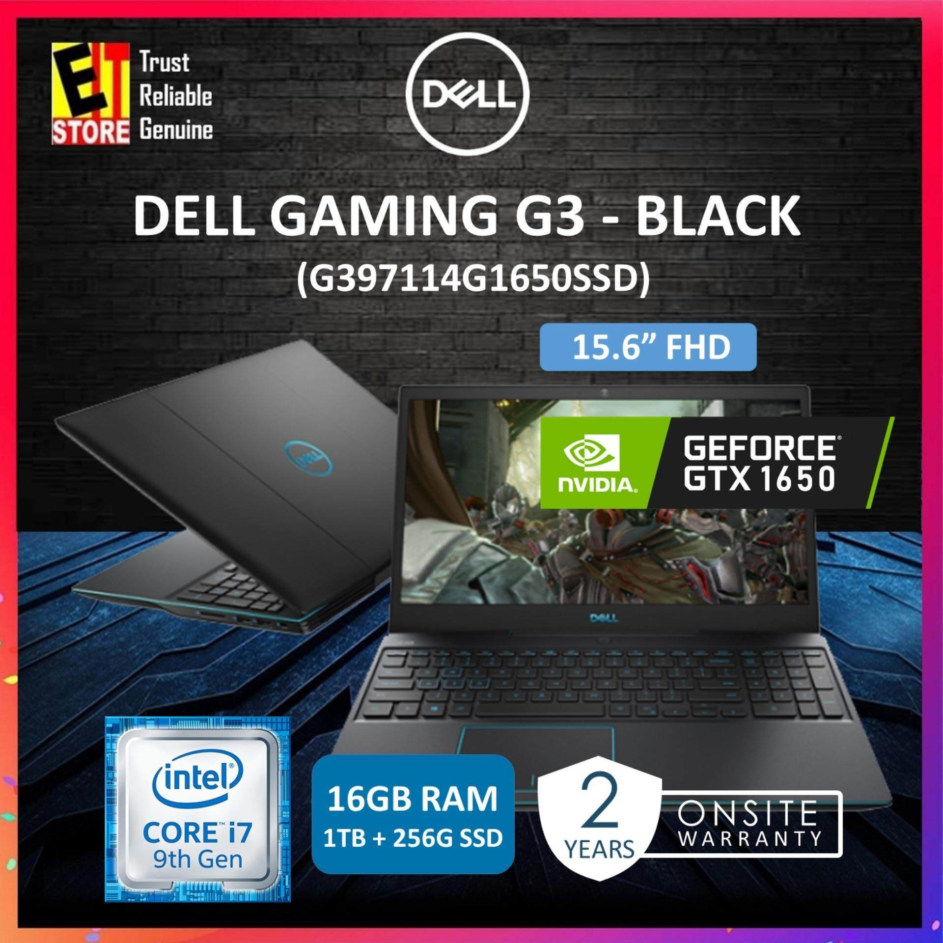 DELL GAMING G3 BLACK (G397114G1650SSD) (I7-9750H/16GB/1TB+256GB SSD/15.6FHD/4GB GTX 1650/W10/2YRS) Malaysia