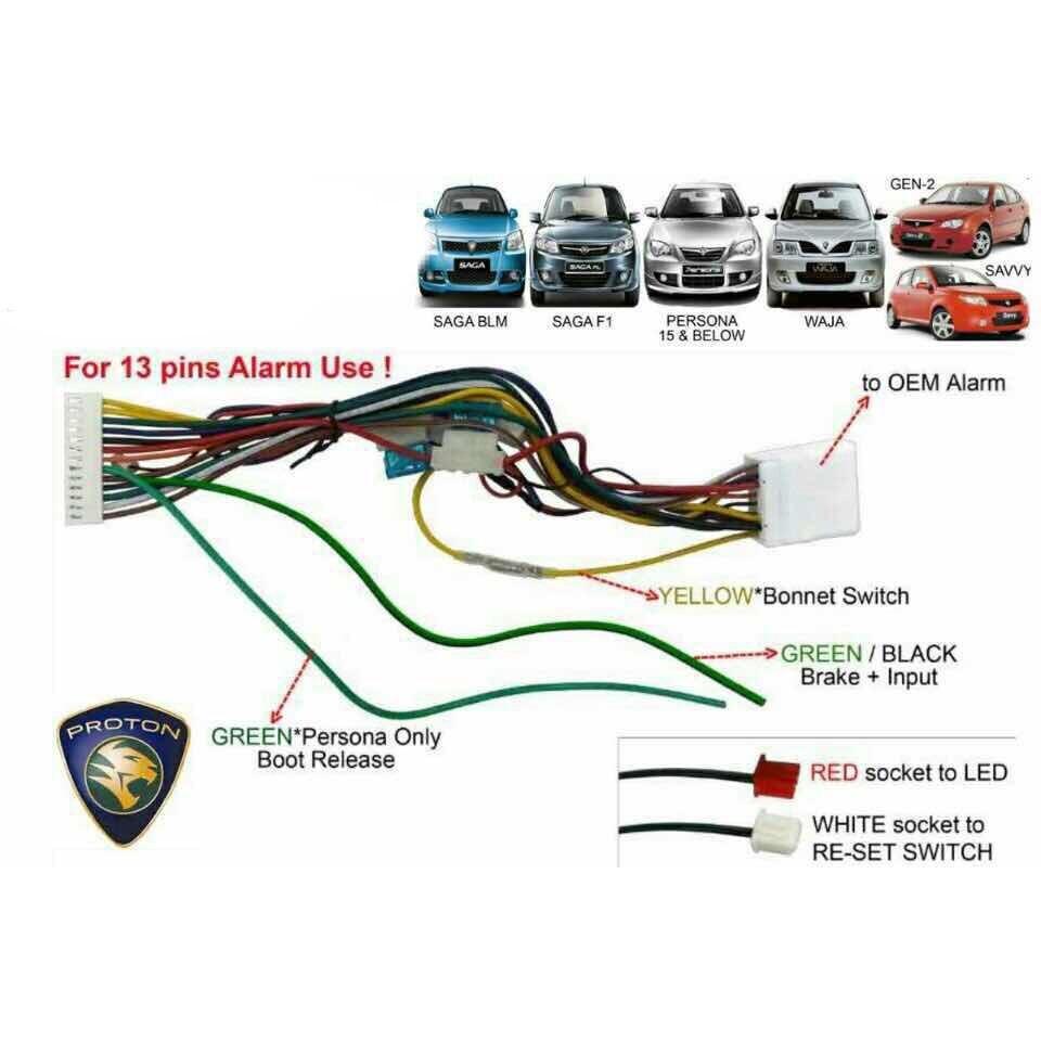 Proton Wira Alarm Wiring Diagram