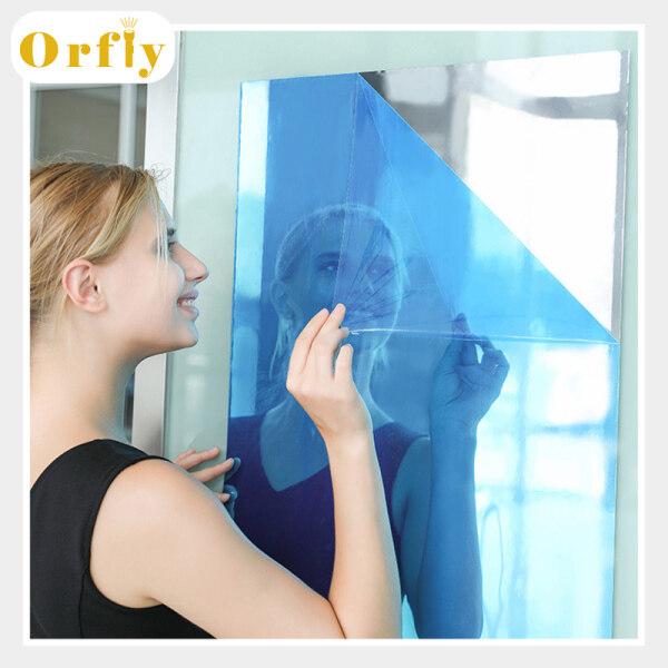 Orfly Tấm Gương Linh Hoạt Không Kính Gương Tự Dính Gạch Gương Dán Tường Cho DIY Art Trang Trí Nội Thất