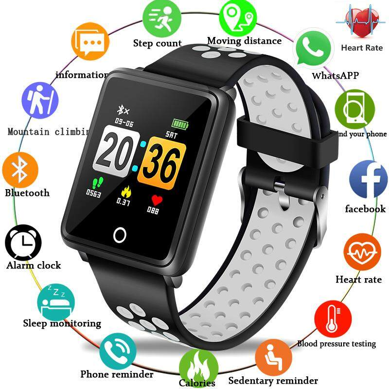2019 Waterproof Smart Bracelet Bluetooth Sport Smart Watch Men Women Activity fitness tracker Heart Rate Monitor Smart band Malaysia