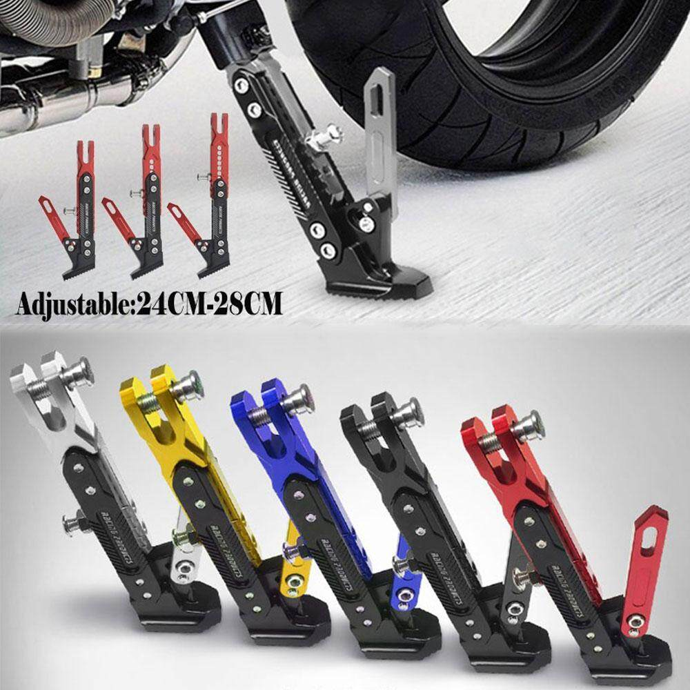 2019 New Blue Universal Adjustable Motorcycle Stand Non Slip Motorbike Side Stands Accessories Aluminum Alloy Foot Kickstand Motor Bracket By Miss Meimeidass Store.