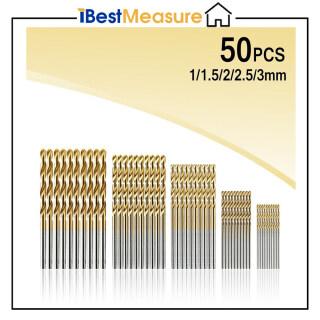IBestMeasure Bộ 50 Mũi Khoan Xoắn Phủ Titan HSS (30 1 1 2 2 5 3Mm) thumbnail