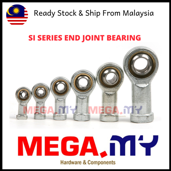 [MEGA Malaysia] SI8T/K SI 8 10 12 14 16T/K Female Fish Eye Right Hand Threaded Rod Universal End Joint Bearing 8mm 10 12 14 16mm