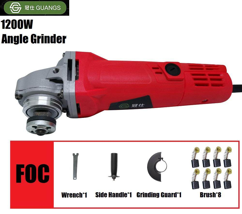 Guangs Multifunctional Angle Grinder Grinding Machine 1200W