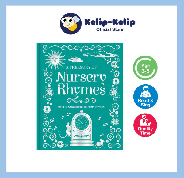 Treasury of Nursery Rhymes Book With 100+ Favourite Rhymes For Kids Ages 3-6 192 Pages Hardcover Padded Malaysia