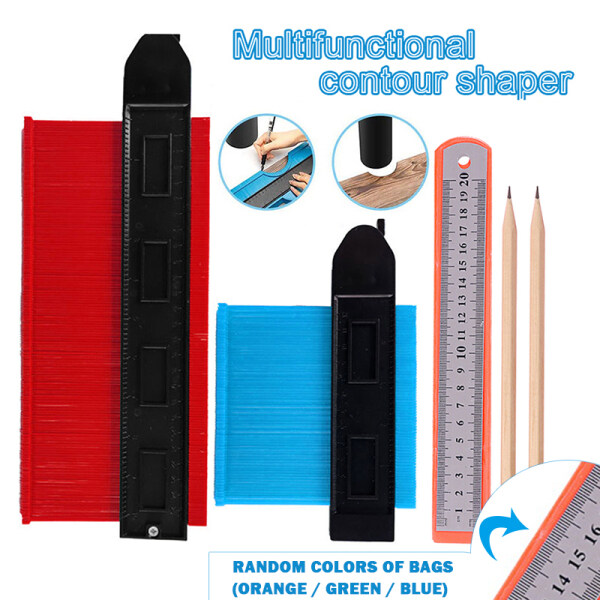 Widened Profile Ruler with Lock and Curved Measuring Ruler