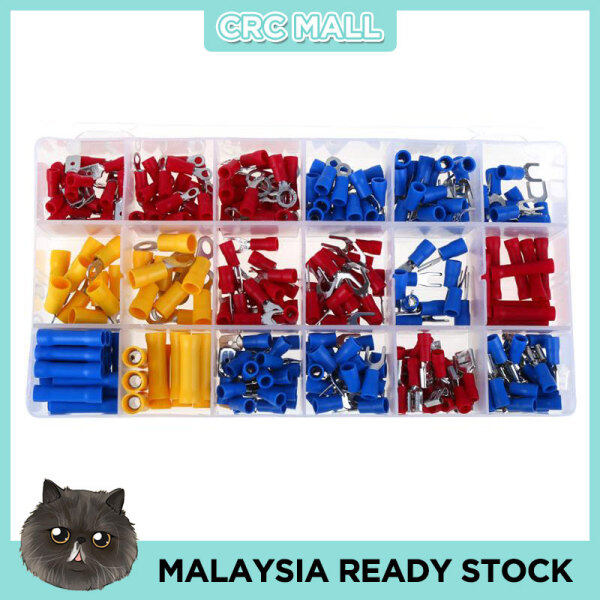 280PCS Assorted Crimp Spade Terminal Insulated Electrical Wire Cable Connector Kit Set