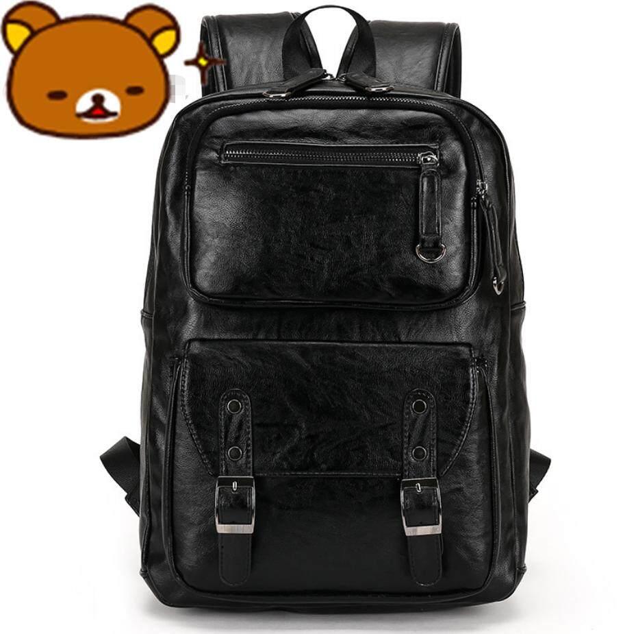 71f44e55843d Sunking Men Rucksack Bag Korean Bag Academy Middle School Back Pack Leisure  Crazy Horse Leather Backpack
