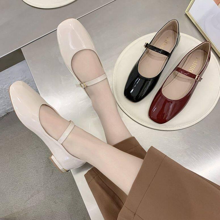 Vintage Mary Janes Giày Cao Gót Nữ Giày Nữ Giày Nữ Giày Đi Học Giày Búp Bê Cho Nữ Giày Đế Bằng Ba Lê Cho Nữ Giảm Giá 090144 giá rẻ