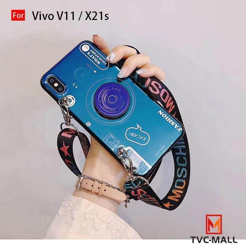 TVC-MALL Retro Tali Pengikat Kamera Casing Ponsel untuk Vivo Iqoo V11 X21s V11i Z3 Z3i