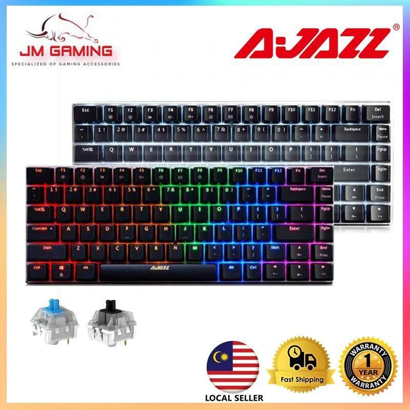 【JM GAMING MALAYSIA】 A-JAZZ AK33 RGB/ Single Backlit Mechanical keyboard blue switch, black switch,82 classic keys Malaysia