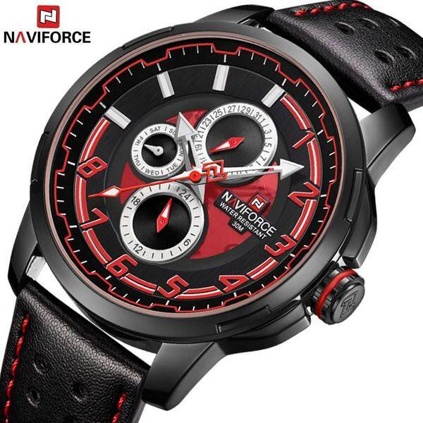 Nơi bán Đầu thời trang thương hiệu NAVIFORCE da thời trang mô phỏng đồng hồ thạch anh quân đội thể thao đồng hồ chống thấm nước Đồng Hồ Relogio Masculino