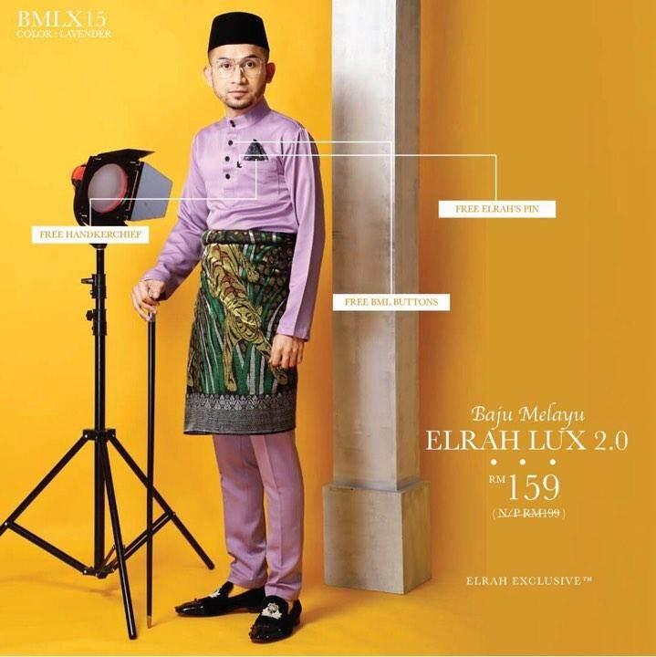{win!!! Rm3000 Cash} Baju Melayu Slim Fit Colour Lavender Jakel Baju Melayu Lima Waktu Elrah Exclusive By Sha Alyahya.