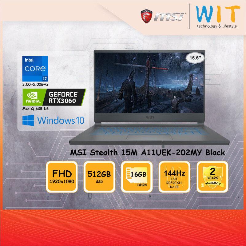 MSI Gaming Laptop Stealth 15M A11UEK-202MY Carbon Grey/Intel Core i7-11375H 3.00~5.00GHz/16GB DDR4/512GB SSD/15.6FHD 144Hz/NVD RTX3060 Max Q 6GB D6 Malaysia
