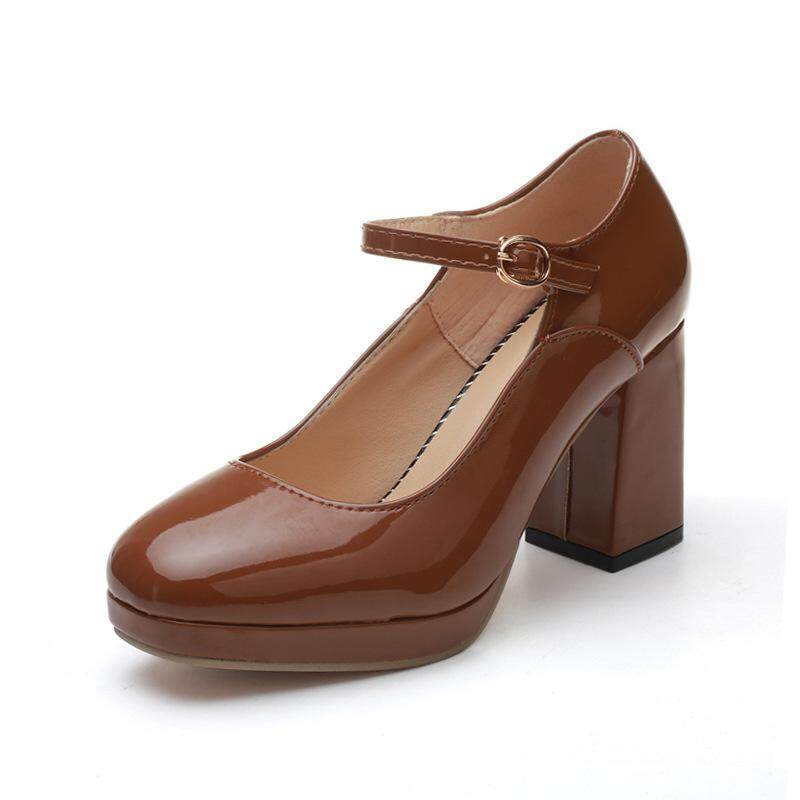 178be5f7e5c High-heeled Shoes Shallow Mouth High-heeled Mary Jane Women s Shoes British  Style Rough