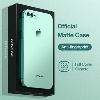 Sanptoch Ốp Điện Thoại Mờ Mạ Cho iPhone 7 8 Plus SE 2020 Ốp Chống Sốc TPU Mềm Mỏng Vuông Cạnh Thẳng Cho iPhone 6 6S Plus SE2 Ốp Bảo Vệ Toàn Bộ Máy Ảnh thumbnail