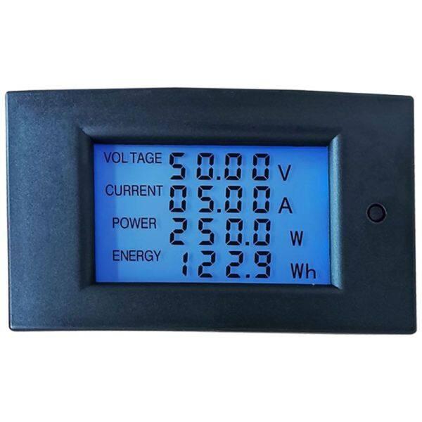 Hot Bán Đồng Hồ Đo Năng Lượng Điện Một Chiều 7.5-100V 20A 2000W Wattmeter Điện Bảng Điều Khiển Đo Màn Hình Hiển Thị Kỹ Thuật Số Vôn Kwh Watt Amp