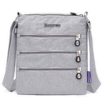 Auoker พัดลมกระเป๋าสะพายไหล่ Multi - Pocket ผ้าใบถุงซักผ้ากระเป๋าใส่เอกสารสำหรับผู้หญิงและผู้ชาย (21*3*25 ซม.)-