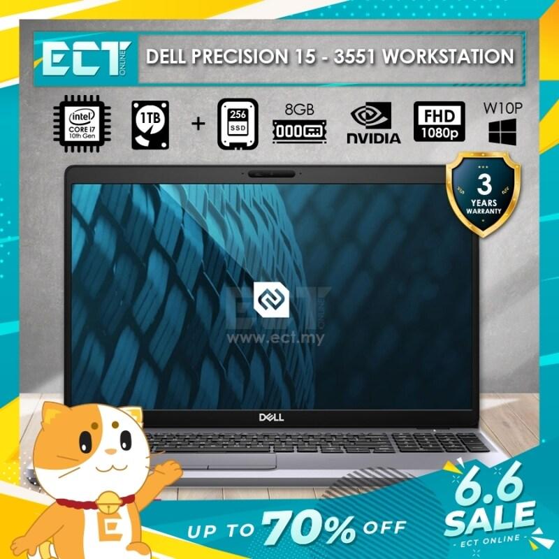 Dell Precision 3551 Mobile Workstation (i7-10750H 5.0GHZ,1TB+256GB SSD,8GB,QD P620-4GB,15.6FHD,W10P) Malaysia