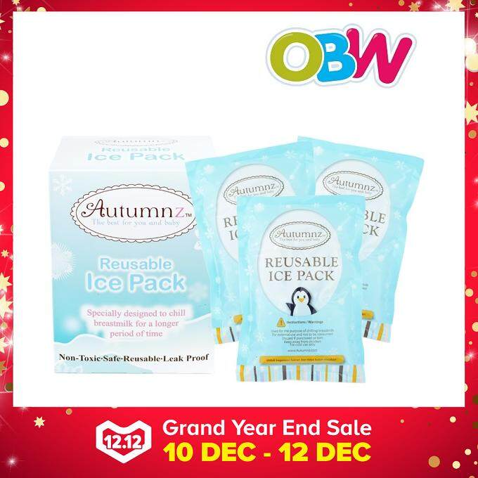 Autumnz - Reusable Ice Pack Gel (3 Pcs, 310g/pc) By Onebabyworld.