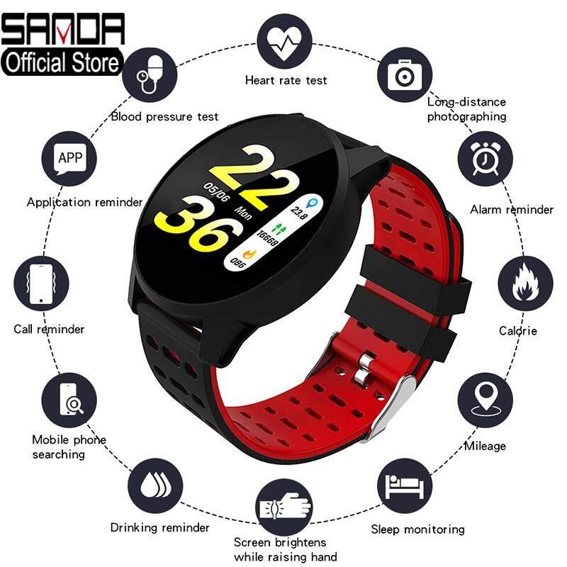 Đồng Hồ Thông Minh SANDA Bluetooth Đồng Hồ Nam Màn Hình Kỹ Thuật Số LED Đồng Hồ Nữ Vòng Đeo Tay Sức Khỏe Đồng Hồ Báo Thức Thông Minh Thể Thao Chống Nước Đồng Hồ Bước Quà Tặng Bluetooth