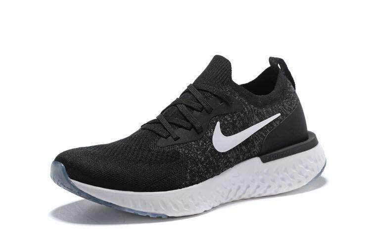 Nike_ Epic_ React_ Flyknit_ Men and Women Running Shoes Black white Sport Sneakers AQ0067