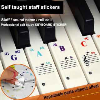Miếng Dán Học Piano Phổ Thông CNB2C Đề Can Bàn Phím Nốt Nhạc Piano88 61 54 49Key thumbnail