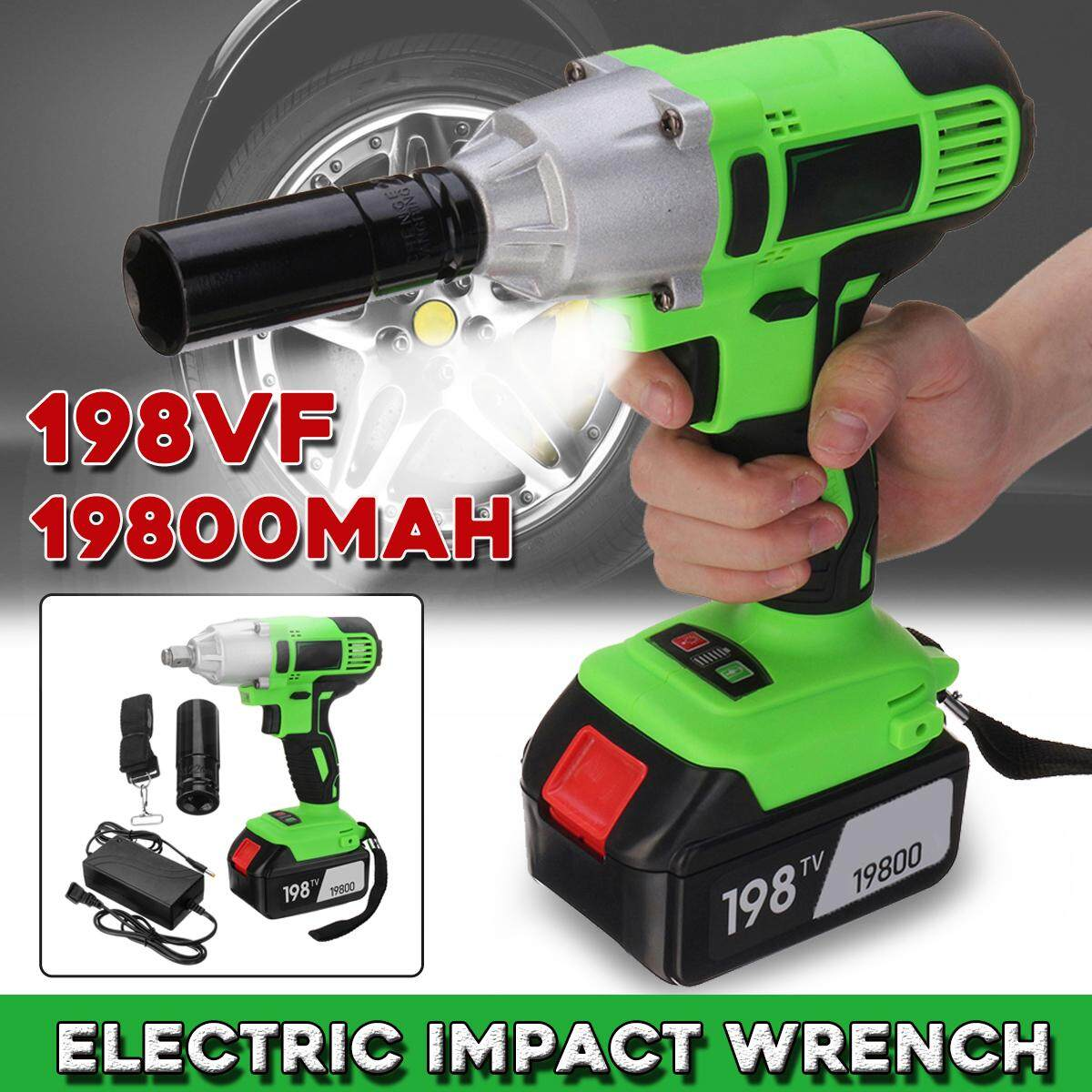 198VF Car Impact LED Wrench Cordless Screwdriver Torque Drill