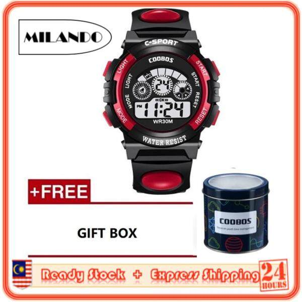 MILANDO Children watches LED Digital Multifunctional Waterproof Outdoor Sports Watch FREE Metal Case (Type 2) Malaysia