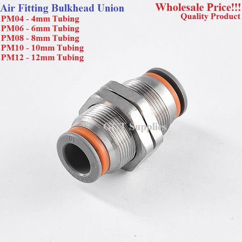 Jrotro Bulkhead Union Pneumatic Air Push In Quick Fitting(pm-04,06,08,10,12) By Great Global Tech Supplies.