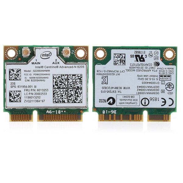 Giá Băng Tần Kép 300M Intel 6205 Không Dây Wifi Mini PCI-E Wlan Card Dành Cho HP 8570W 8470W