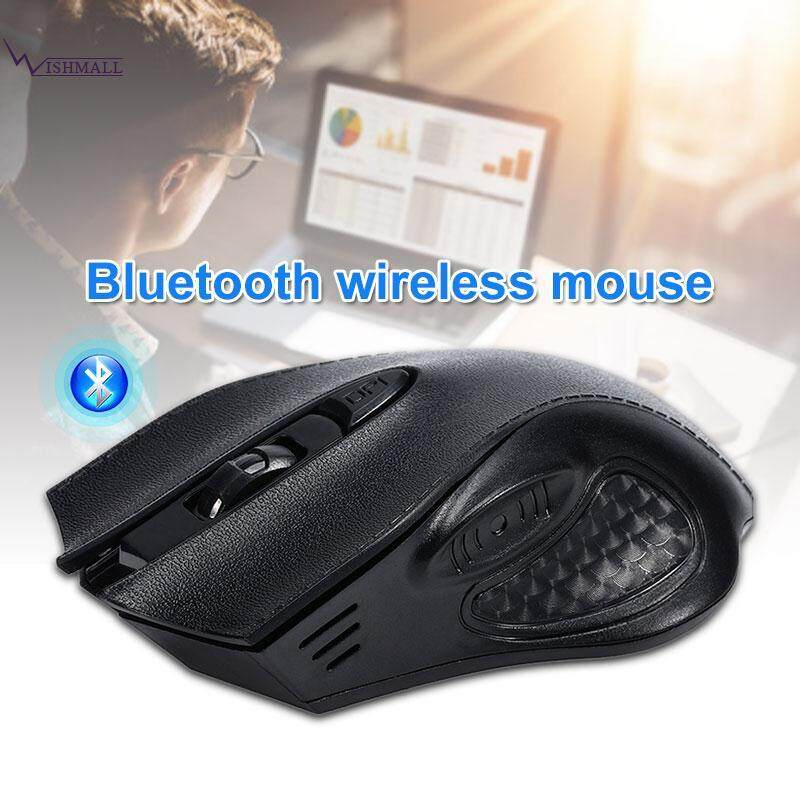 Wishmall Macbook Tetikus Bluetooth Mouse Optik Mouse Nirkabel Kulit Gandum 2.4G Hz 1600 DPI Portabel Premium PC Bisu Rechargeable Kerja Komputer Tablet Mouse Gaming