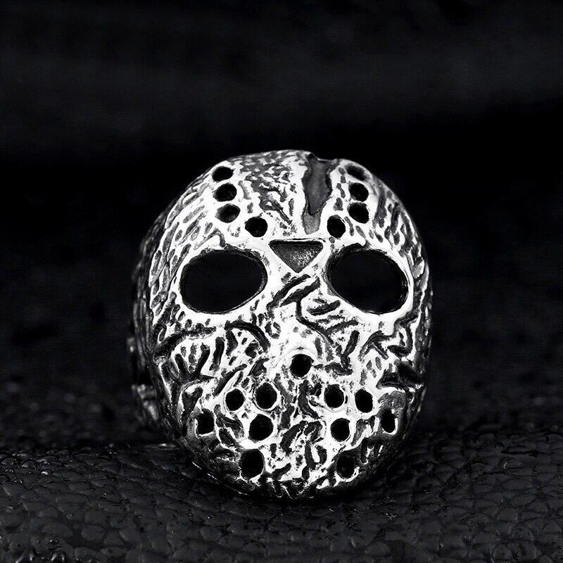 Jason's Mask Titanium Steel Men Ring Male Punk Retro Rings Cool Gothic Party Jewelry Gift,Hot Sale