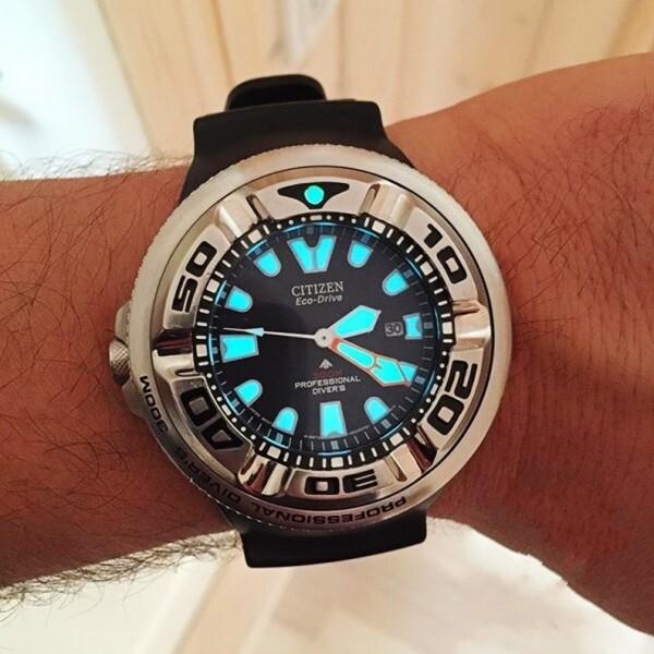citizen_citizen_ Xitiecheng Diving Table Photokinetic Waterproof Silicone Watch Male Bn2029-01E Malaysia