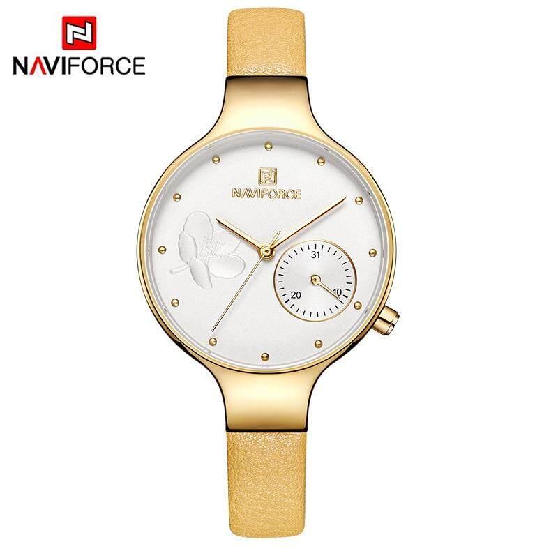 82e65fbe7c11 NAVIFORCE Women Watches Top Brand Luxury Fashion Female Quartz Wrist Watch  Ladies Leather Waterproof Clock Girl