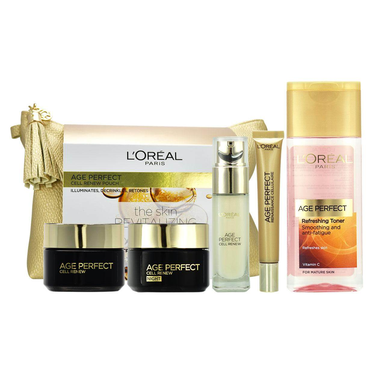 Loreal Age Perfect Cell Renew 5pcs Set By Yasuee_my.