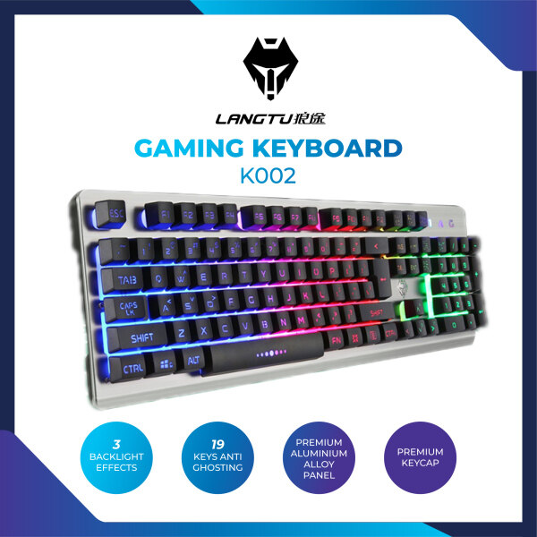 Langtu K002 Gaming Keyboard Backlit 104-Key Wired Game Keyboard Malaysia