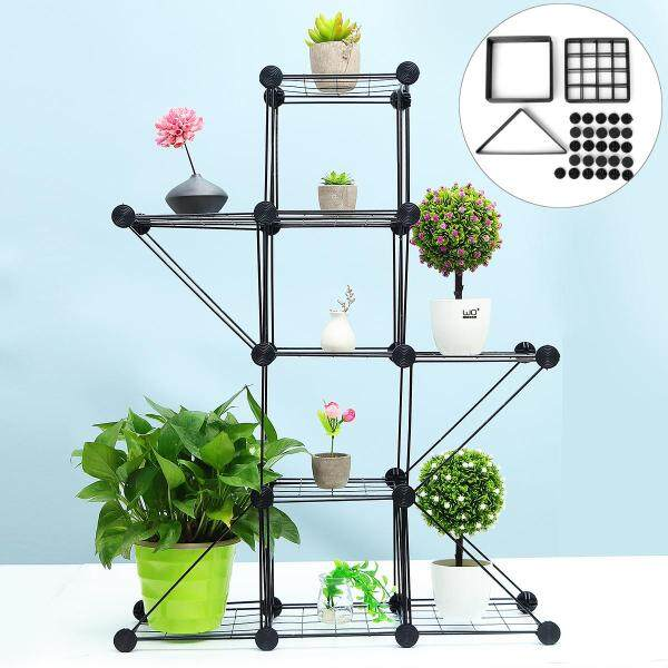 Plant Rack Flower Pots Iron Stand Garden Display Shelf Outdoor Indoor Decor