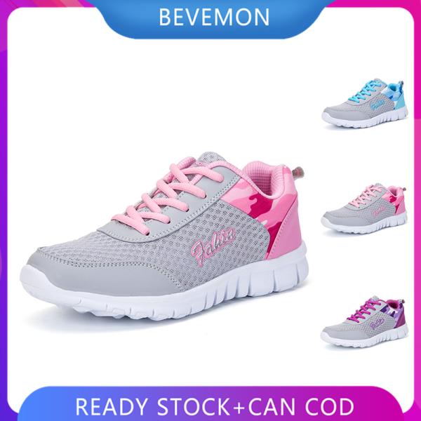 BEVEMON Giày thể thao buộc dây chống trượt trọng lượng nhẹ dành cho nữ - INTL