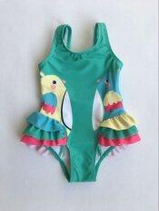 Kids Baby Girls Vẹt Bikini Đồ Bơi Đồ Bơi Bộ Đồ Tắm Trang Phục Bơi