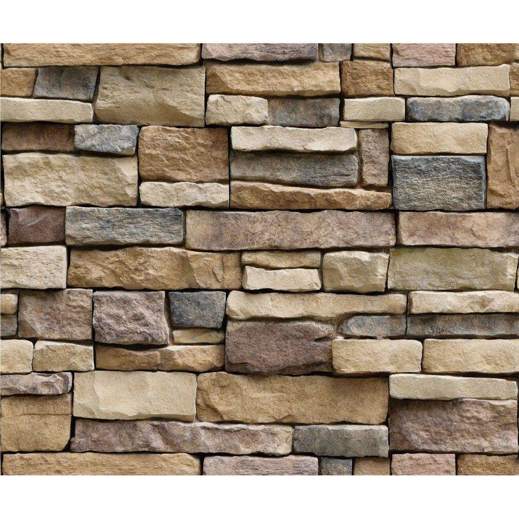 Best Sellers 3d Stone Brick Wallpaper Pvc Wall Sticker Bedroom Living Room Background Decal