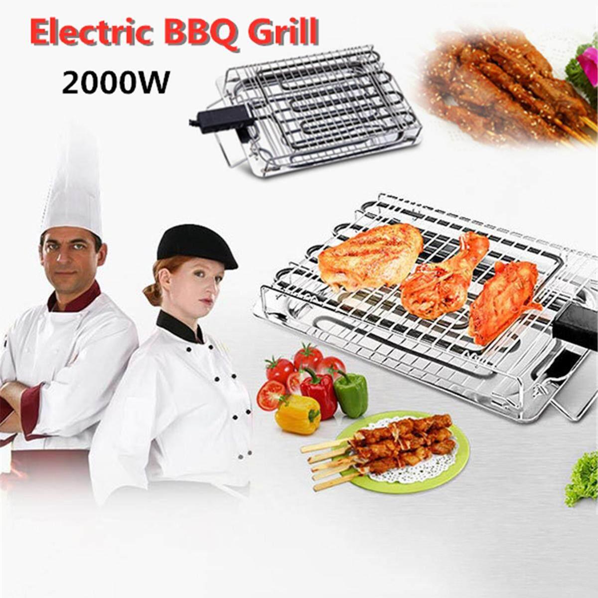 220 V Thép không gỉ Bếp Nướng Điện Không Khói ELECTRIC BARBECUE GRILL Làm Nóng BBQ Nấu Ăn