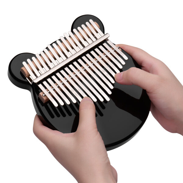 Muslady 17-Key Thumb Piano Black Acrylic Kalimba Mbira Musical Instrument with Carrying Case Tone Stickers Tuning Hammer Finger Protector Padding Wipe Cloth Malaysia