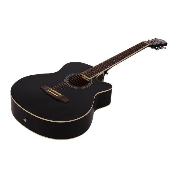 40inch Cutaway Acoustic Folk Guitar 6 Strings Basswood with Strap Gig Bag Capo Picks Malaysia