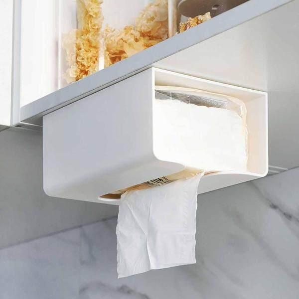 Homenhome Tissue Box Cabinet Under Tissue Holder Kitchen Paper Storage Rack