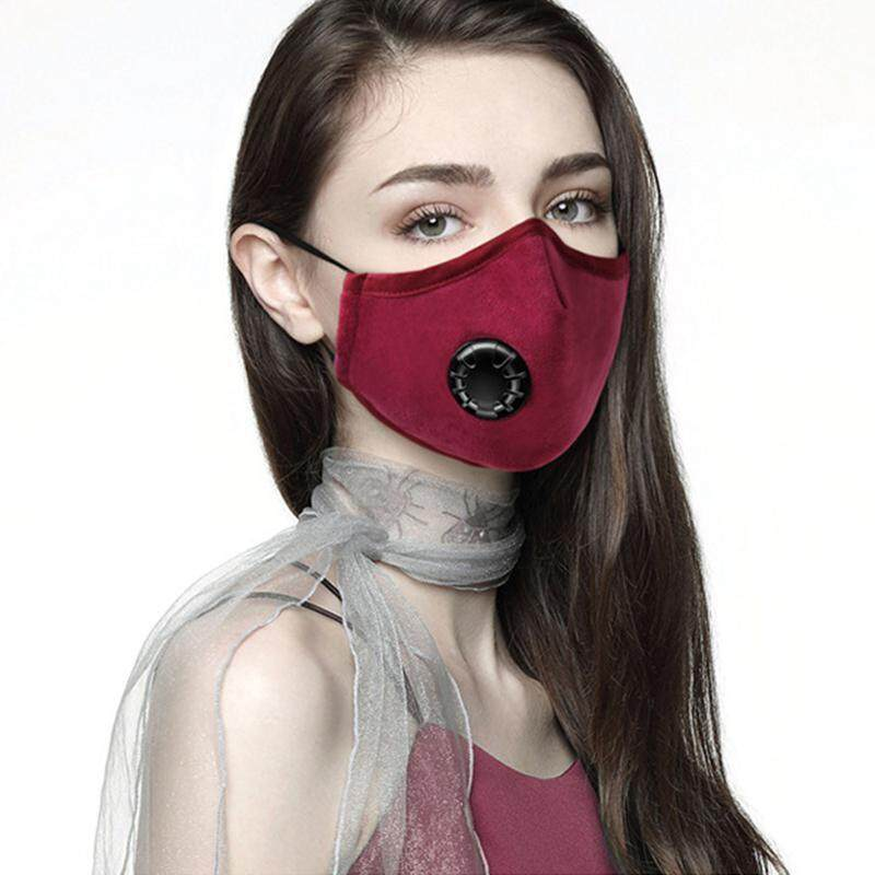 OEM Face Mask Washable and Reusable Mouth Cover Dustproof Respirator Safety  Mask with Breath Valve Made for Men Women Outdoor Activities