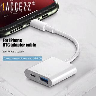 Cáp Chuyển Đổi OTG ACCEZZ Cho iPhone iPad, Cáp Chuyển Đổi Dữ Liệu Cổng Sạc USB Sang Máy Ảnh USB thumbnail