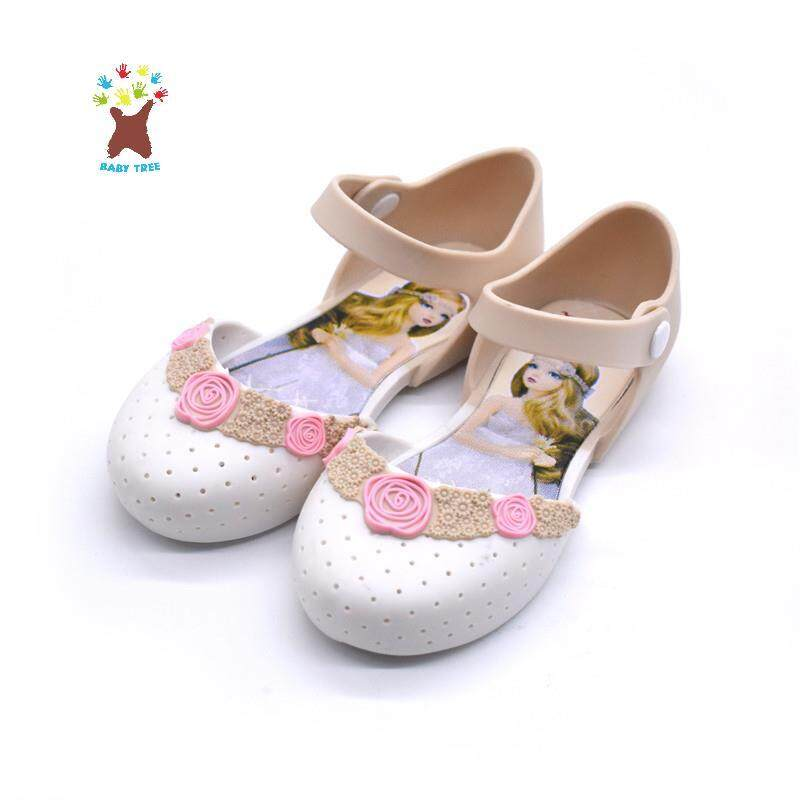 2019 New Cute Girl Shoes Summer Fashion Skid Resistant Princess Jelly Shoes Soft-Soled Sandals By Ggx.