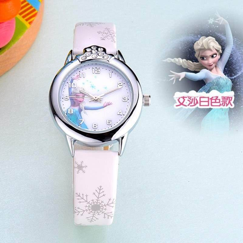 Kids Girls Frozen Fashion Crystal Quartz Wrist Watch Faux Leather Band Watches Malaysia